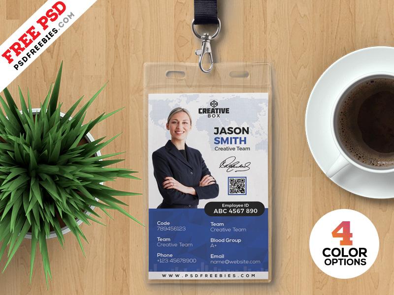 Photo Identity Card Template Free PSD Bundle photo identity card badge card free freebie id psd identity card id card identity photo card office