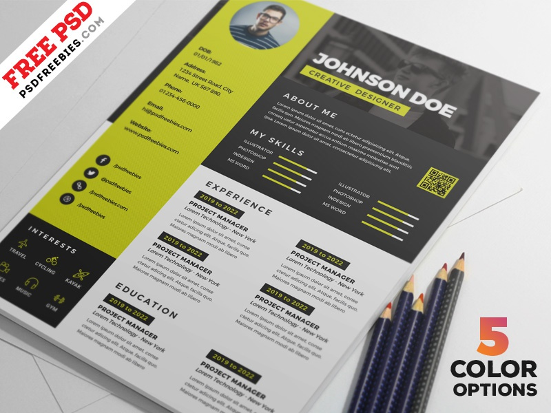 awesome resume cv design psd bundle by psd freebies on dribbble