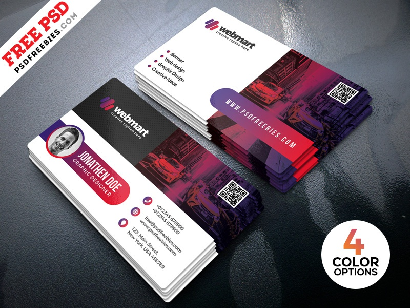 Modern Business Card Designs Psd By Psd Freebies On Dribbble