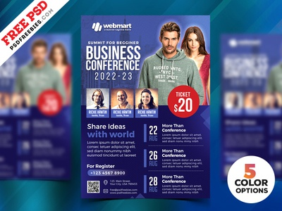 Business Conference Flyer Psd Templates