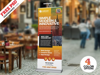 Free Business Roll-up Banner PSD