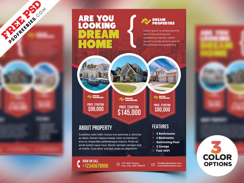 real estate flyer templates psd by psd freebies dribbble dribbble