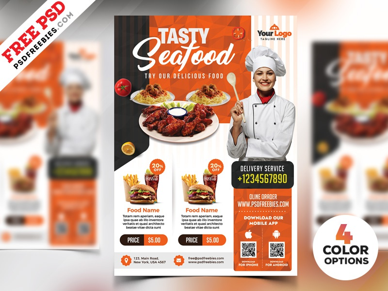 restaurant flyer templates free psd by psd freebies on