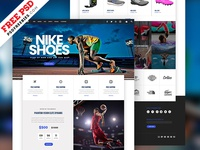 Sports Store E-commerce PSD Template