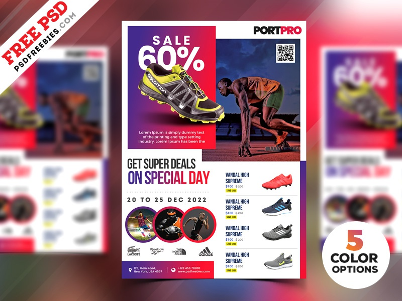 Sportswear Sale Flyer Psd Templates By Psd Freebies Dribbble