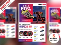 Sportswear Sale Flyer PSD Templates