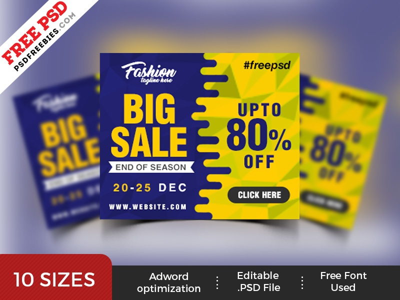 free psd big sale web banner psd templates by psd freebies