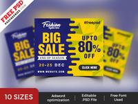 Free PSD : Big Sale Web Banner PSD Templates