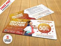 Free Discount Voucher Templates PSD