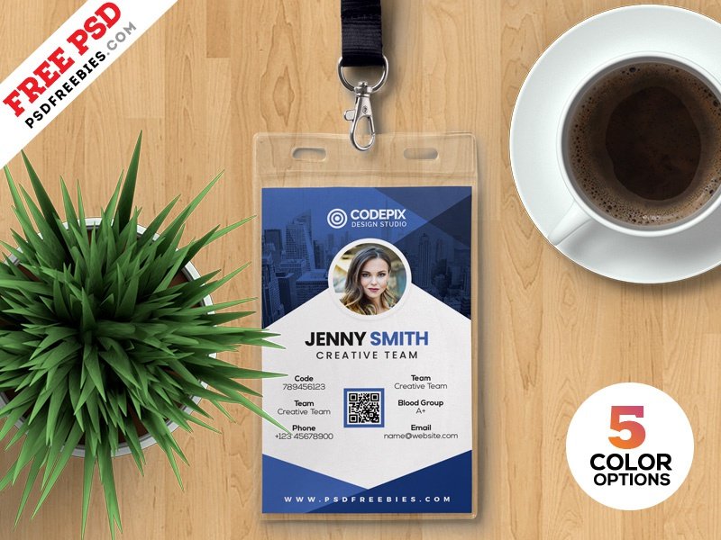 Photo Identity Card Templates PSD identity identity card office id office id card id card print creative template free template design free freebie photoshop download psd template psd free psd