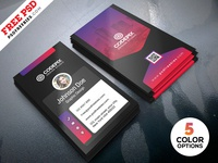 Vertical Business Card Designs PSD