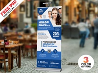 Roll Up Banner Design PSD Template