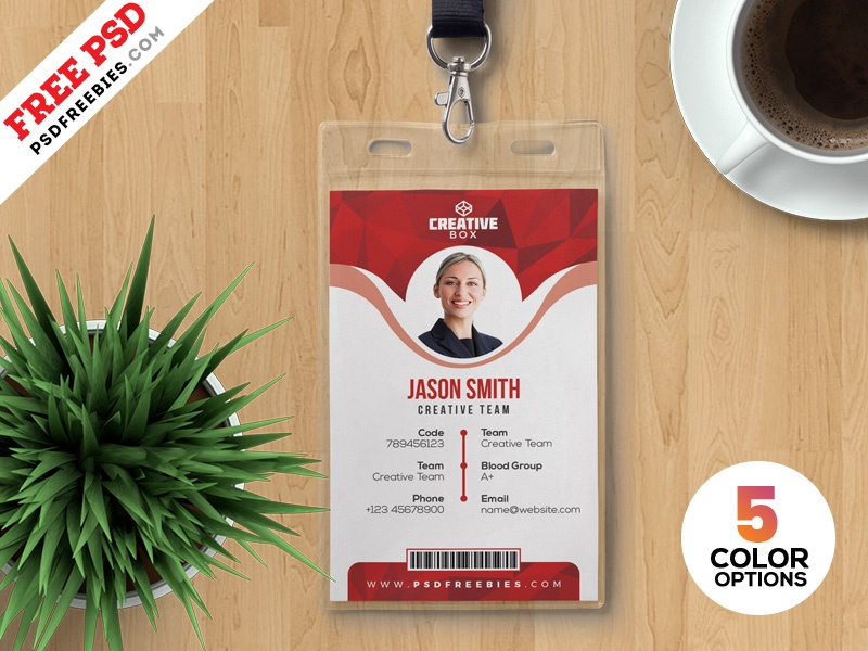 office id card templates psd by psd freebies dribbble dribbble