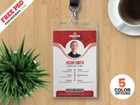 Office Id Card Templates PSD