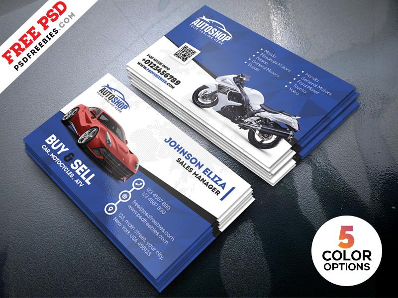Auto, Automotive, Used Cards, Car Dealer, Mechanic ...  Car Sales Business Cards