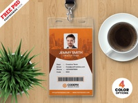 Vertical Identity Card Templates PSD