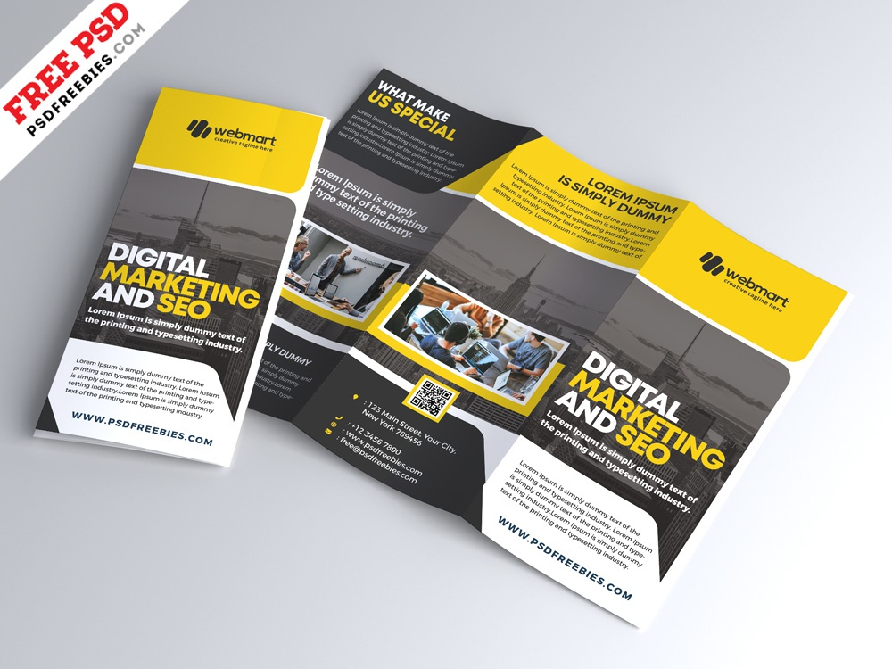 Corporate Tri Fold Brochure Design Psd By Psd Freebies Dribbble