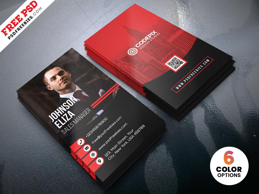 modern corporate business cards design psdpsd freebies