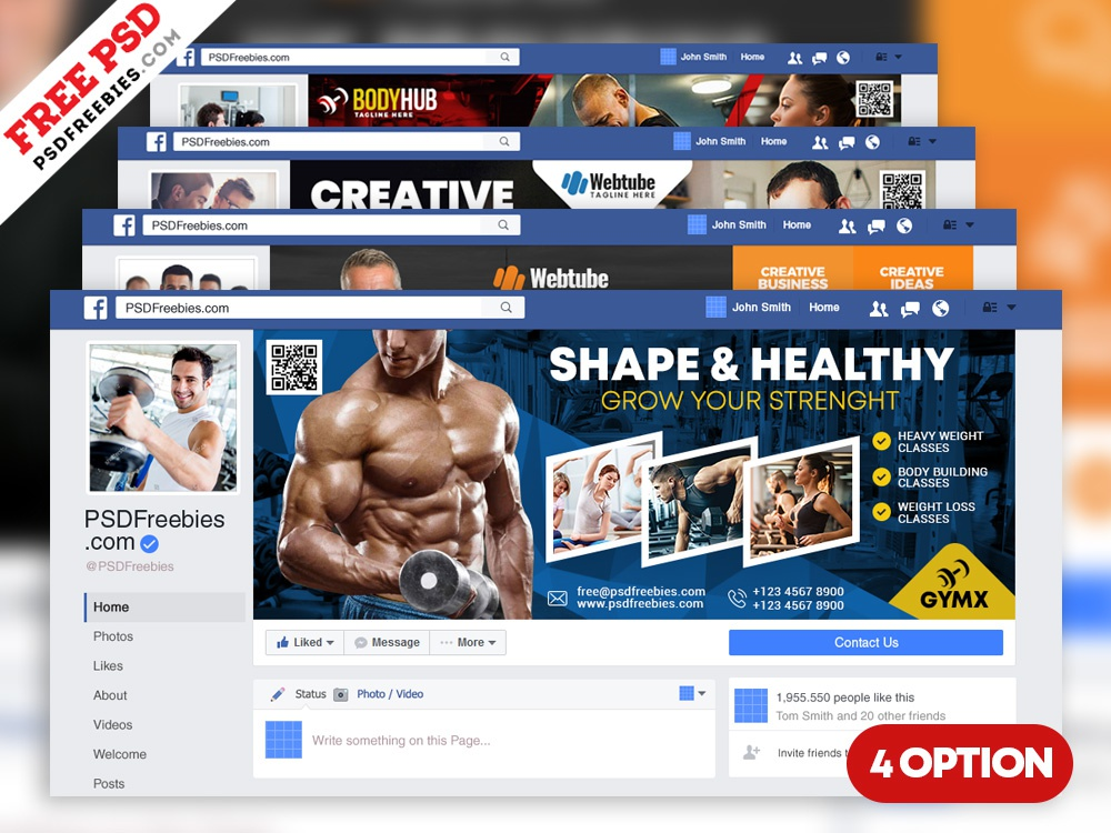Multipurpose Facebook Cover Templates Psd Template Banner Business Free