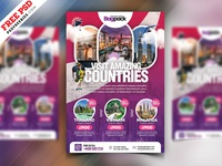 Holiday Travel Packages Flyer Template PSD