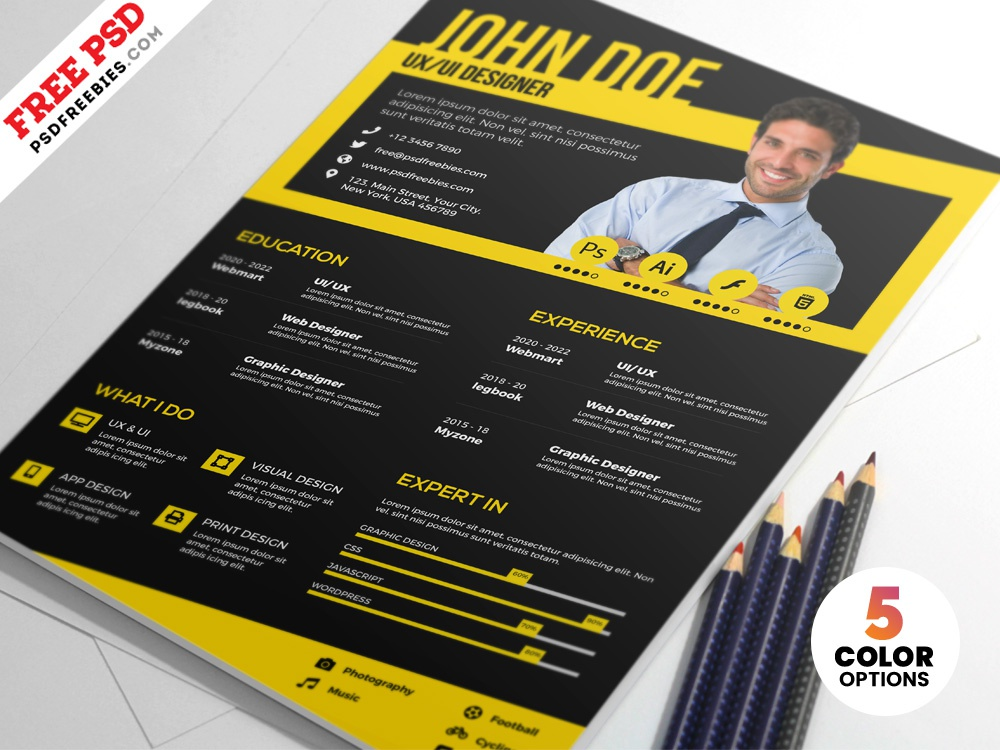 designer cv resume templates psd by psd freebies
