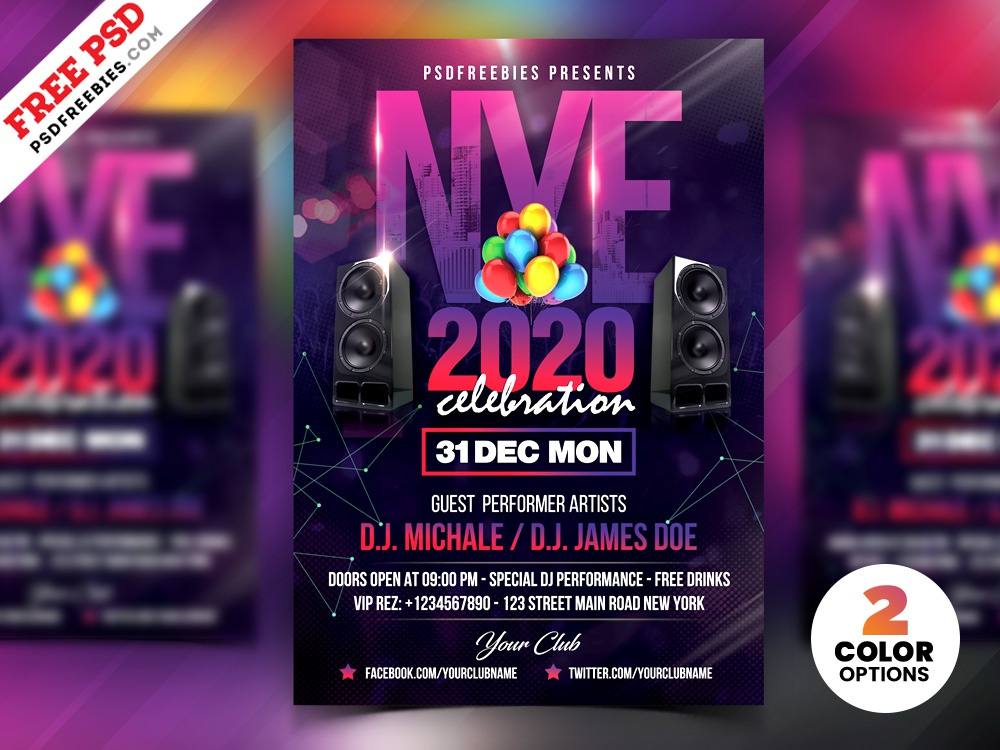 new year party flyer design psd by psd freebies dribbble dribbble