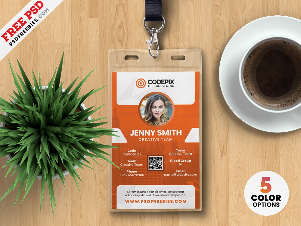 vertical office identity card design psd by psd freebies dribbble