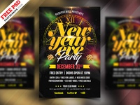 New Year Eve Party Flyer PSD Template