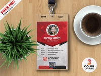 Abstract Office Identity Card designs PSD