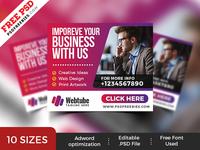Multipurpose Business Web Banner Set PSD
