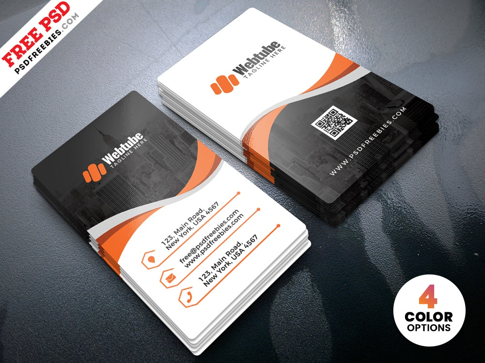 Vertical Business Cards Templates Psd By Psd Freebies Dribbble