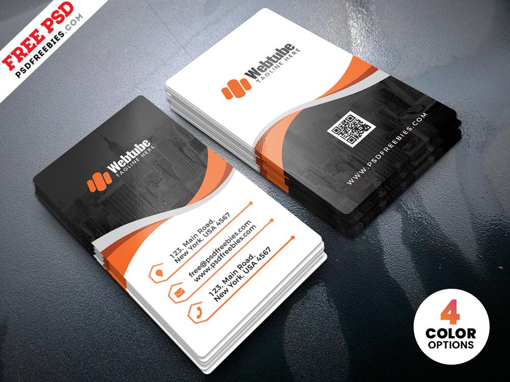 Vertical Business Cards Templates Psd