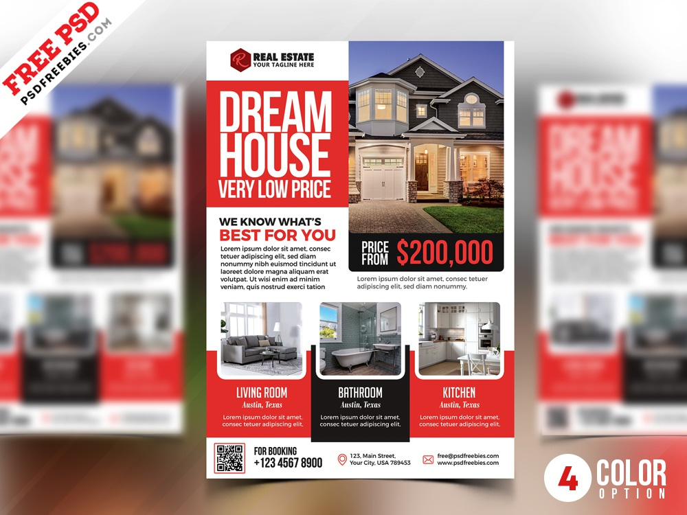 PSD Real Estate Flyer Templates psd flyers real estate flyer real estate real estate agency corporate psd flyer flyer print template photoshop download design free template psd template free freebie psd free psd