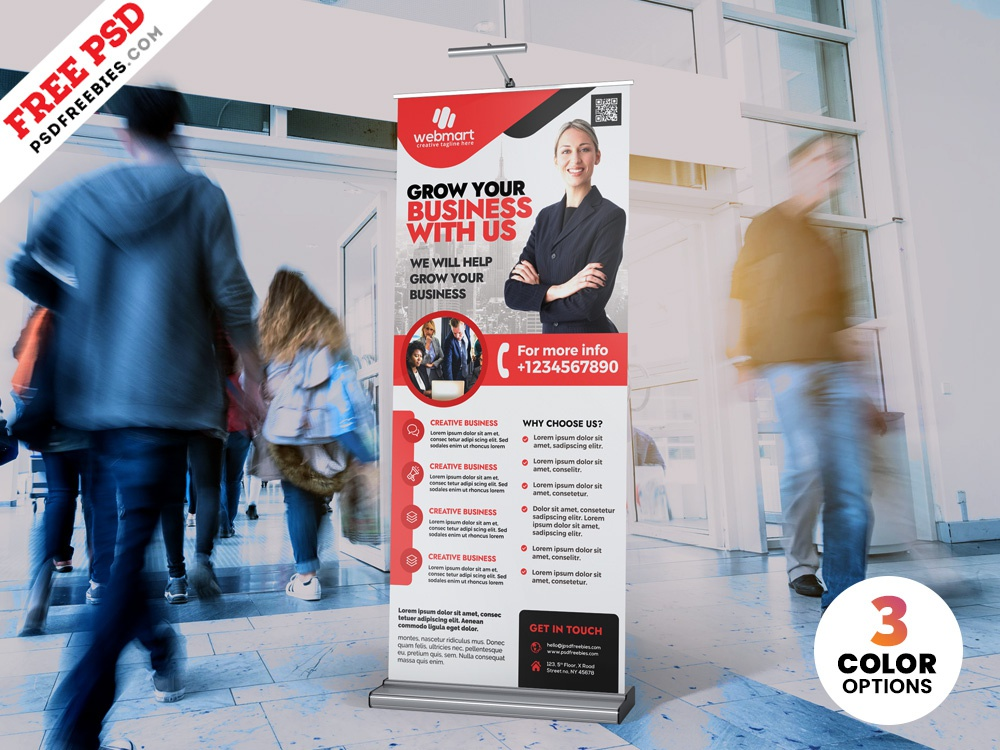 PSD Corporate Rollup Banner Design roll-up psd rollup psd ab rollup banner ad banner psd banner rollup banner roll-up banner rollup creative print template download photoshop design free template psd template free freebie psd free psd