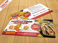 Mexican Restaurant Discount Voucher Design PSD