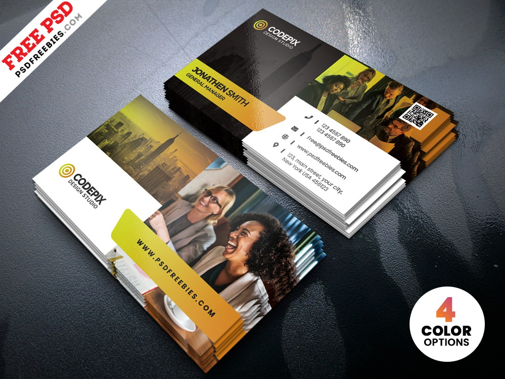 Psd Creative Business Cards Design Template By Psd Freebies