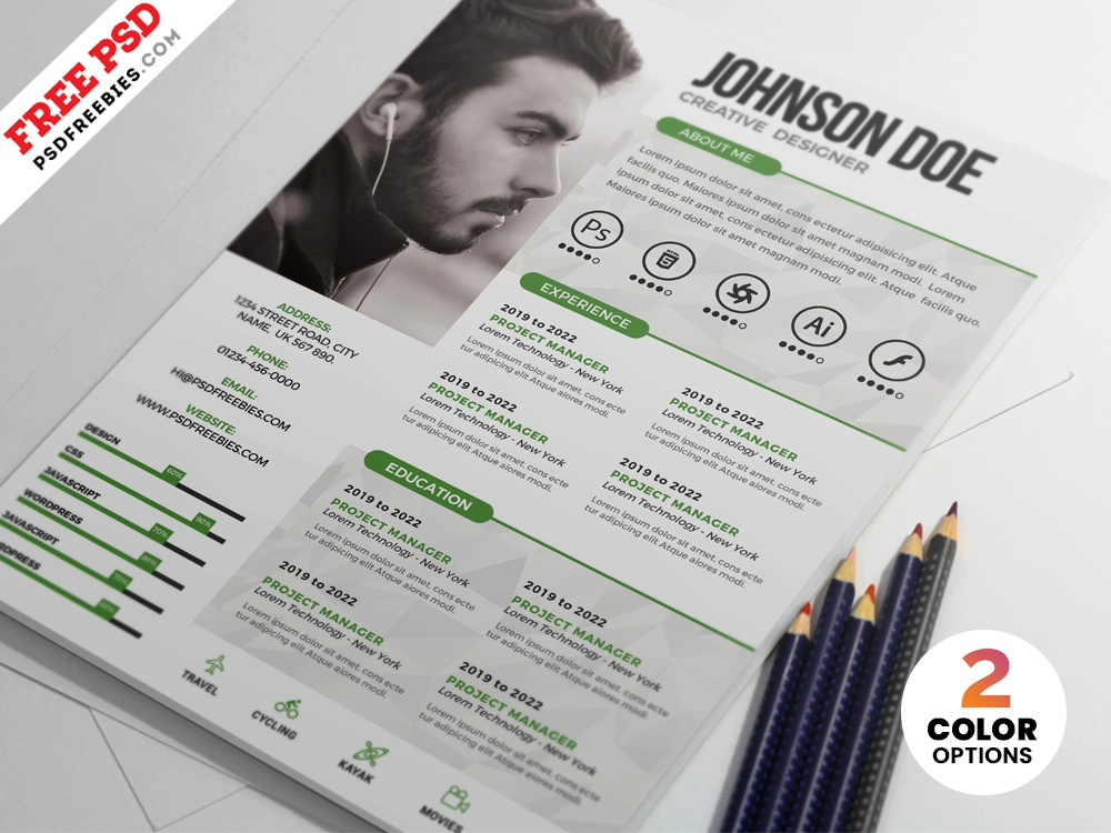 psd creative resume design templates by psd freebies
