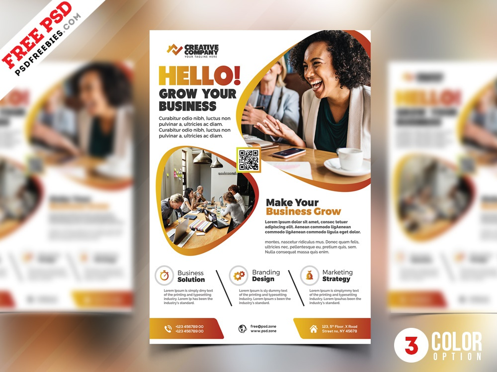 PSD Business Marketing AD Flyer Templates corporate business flyer corporate flyer psd flyer creative print template download photoshop design free template psd template free freebie psd free psd