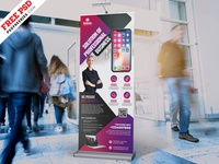 PSD Professional Business Rollup Banner Design