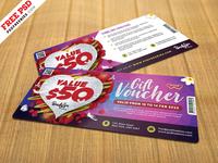 Valentine's Day Gift Voucher Template PSD