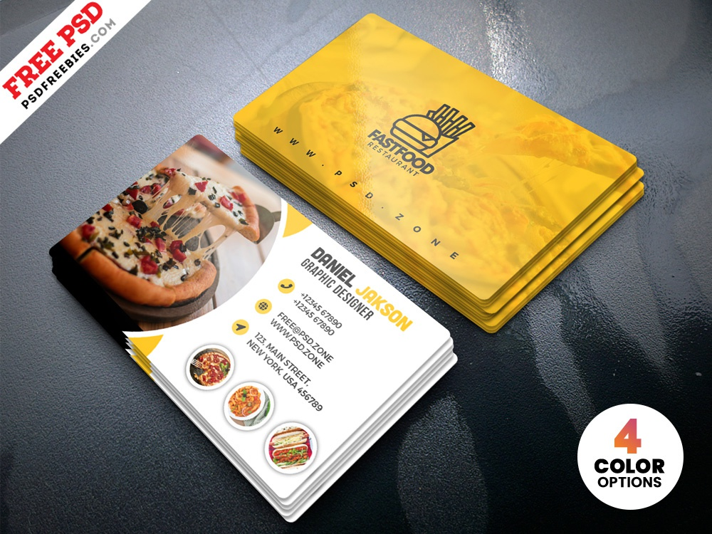 Psd Restaurant Business Card Design Templates By Psd