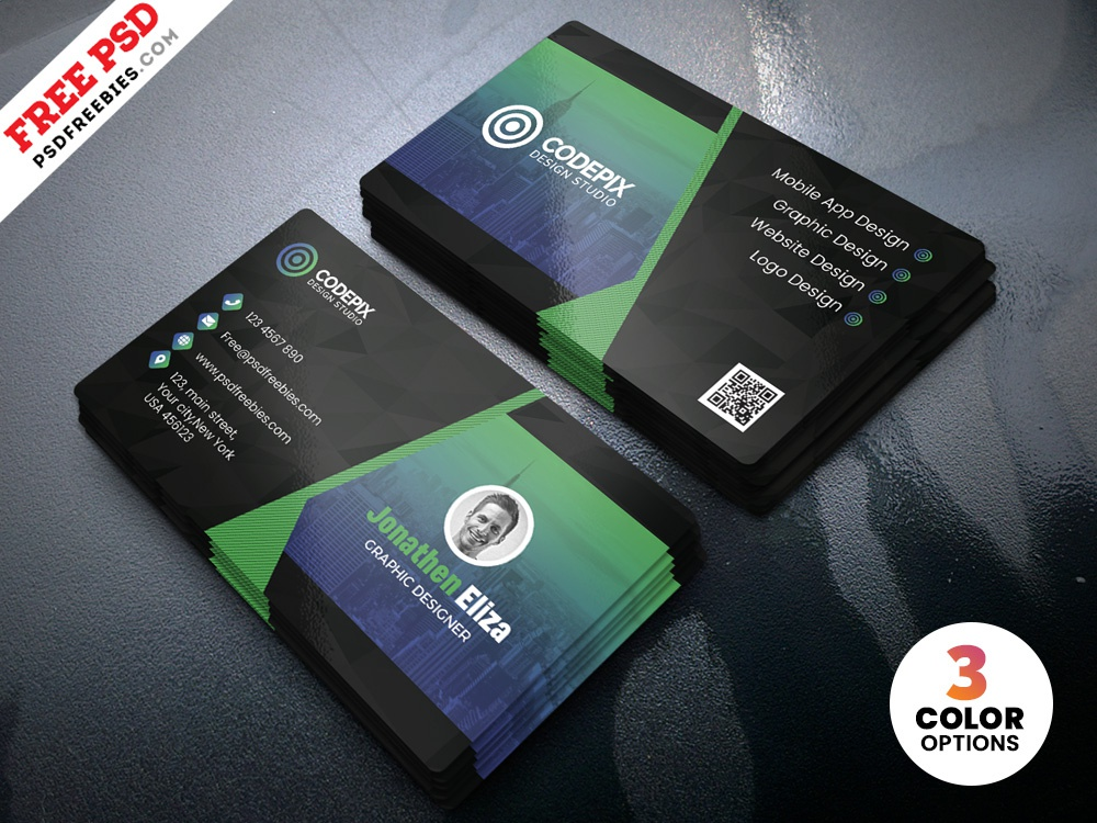 PSD Professional Business Card Design Template by PSD Freebies on Dribbble