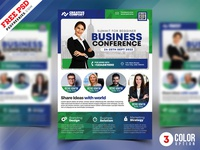 Business Conference Flyer Design PSD