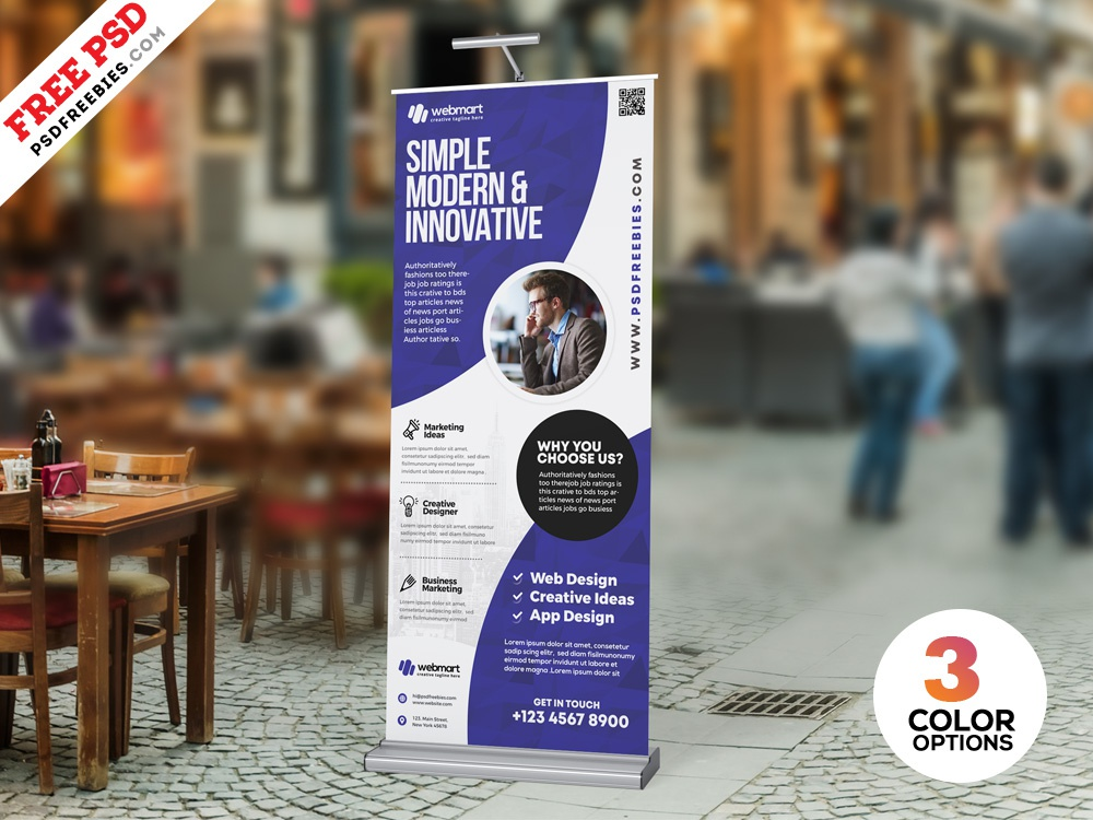 PSD Professional Roll Up Banner Design by PSD Freebies on