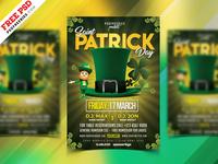 Saint Patrick's Day Flyer Design Free PSD