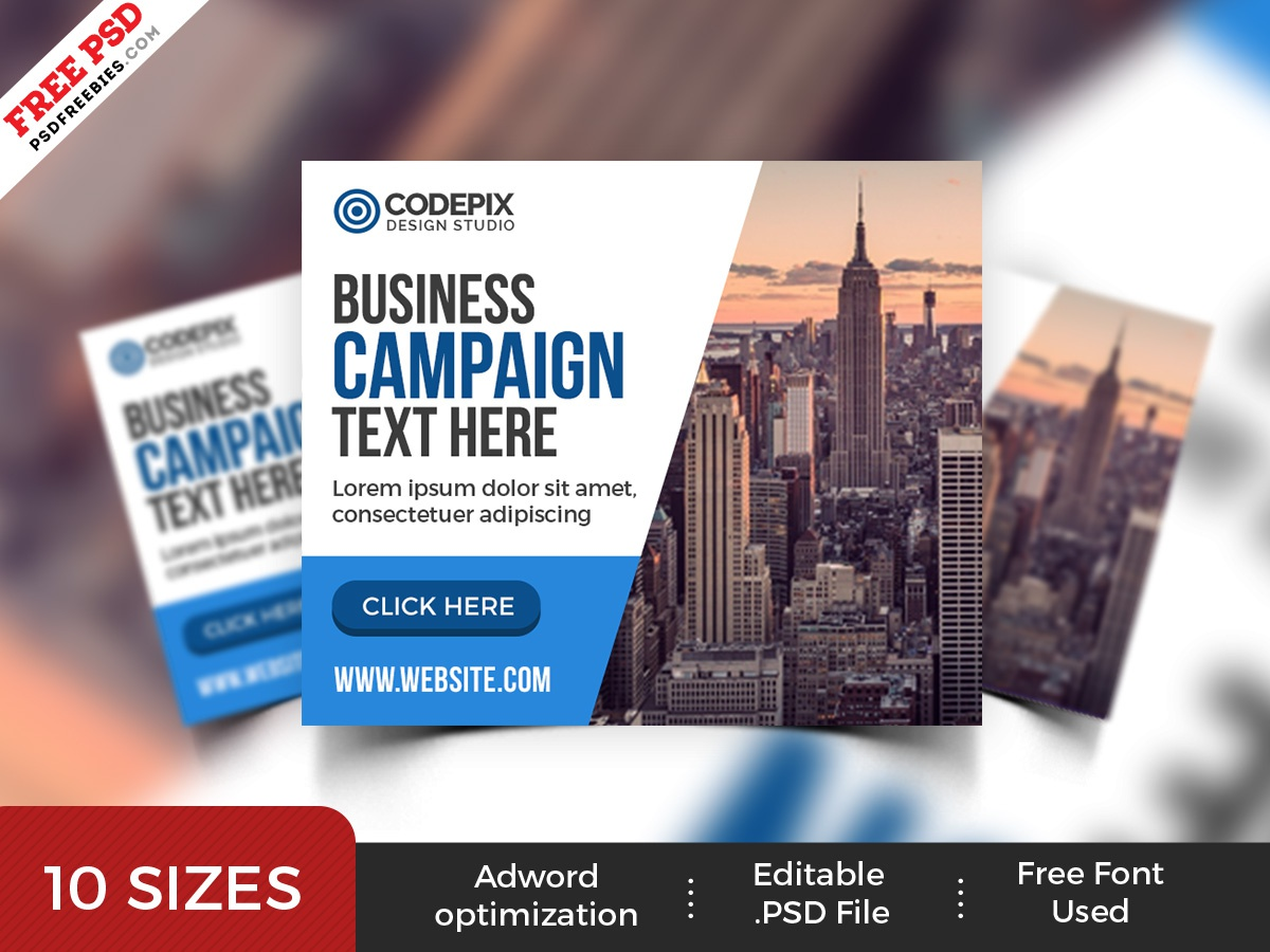 Multipurpose Business Web Banner Ads