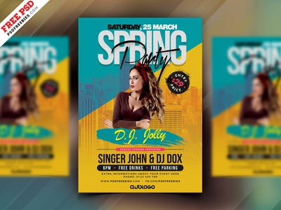 Spring Party PSD Flyer Design PSD