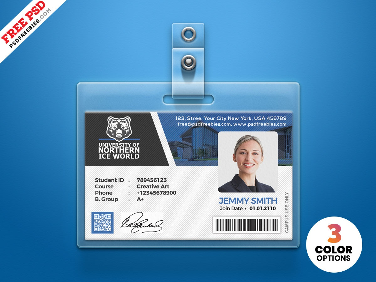 Id card template | premium psd file.