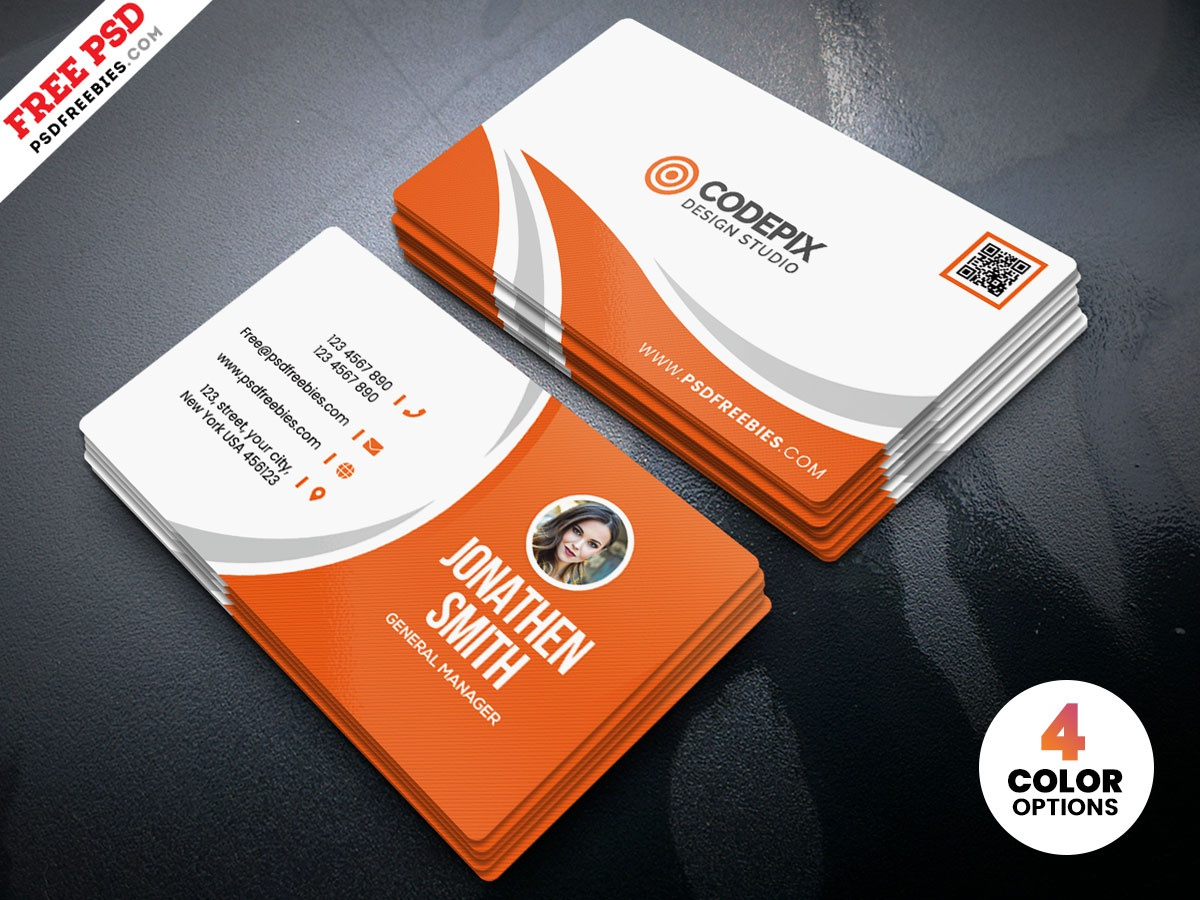 Simple Business Card Design Free Psd By Freebies On Dribbble