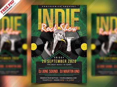 Indie Rock Show Flyer PSD